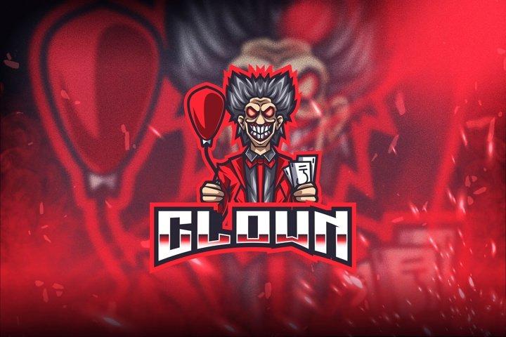 Clown Esport Logo Template