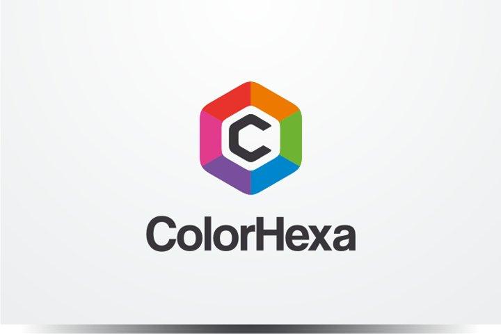 Color Hexagon Logo Template