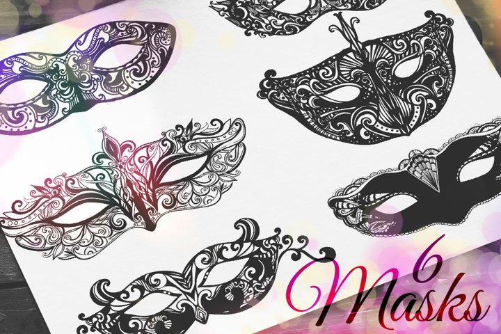 Ornate carnival masks