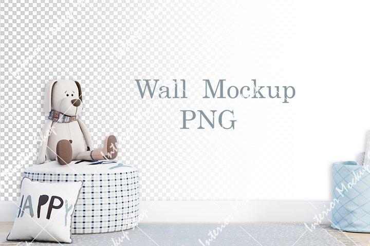 Wall mockup PNG, For wallpaper \ 129