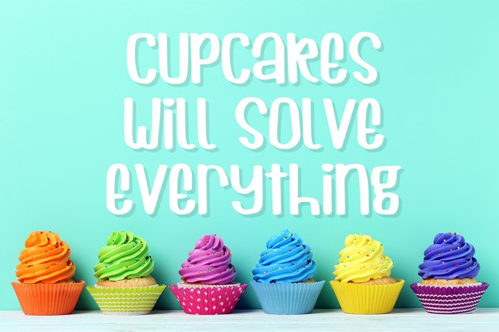 Cuppycake - an impossibly cute font - Free Font of The Week Design0