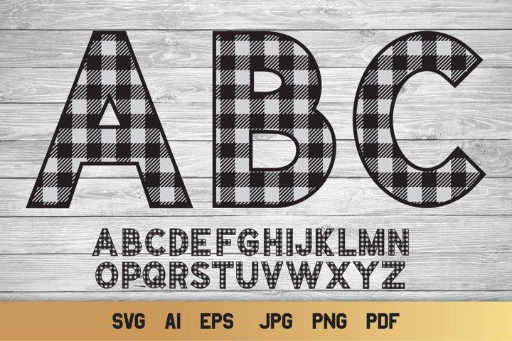 Plaid SVG Alphabet | 26 Cozy Alphabet Letters SVG