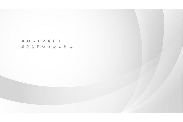 Minimal geometric white background with dynamic shapes