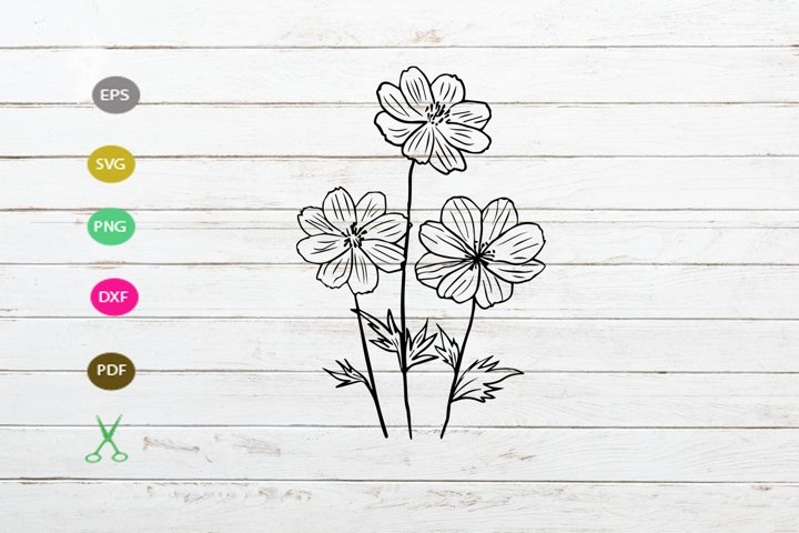daisy flower svg cut file,daisy silhouette,flower svg cut