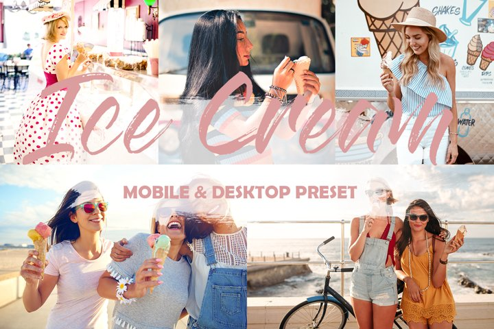 3 Mobile Lightroom Presets Ice Cream
