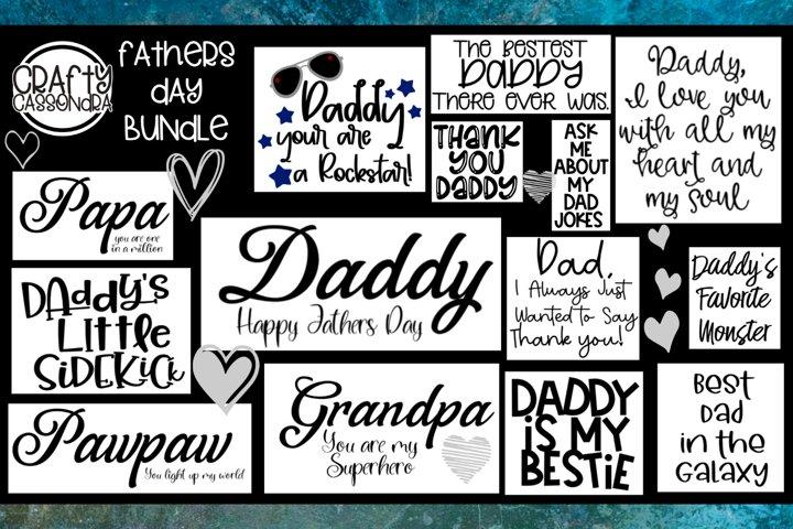 Fathers day bundle - Dad - pawpaw - papa - grandpa - daddy