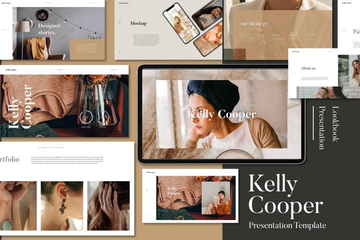 Kelly Cooper Lookbook Powerpoint Template