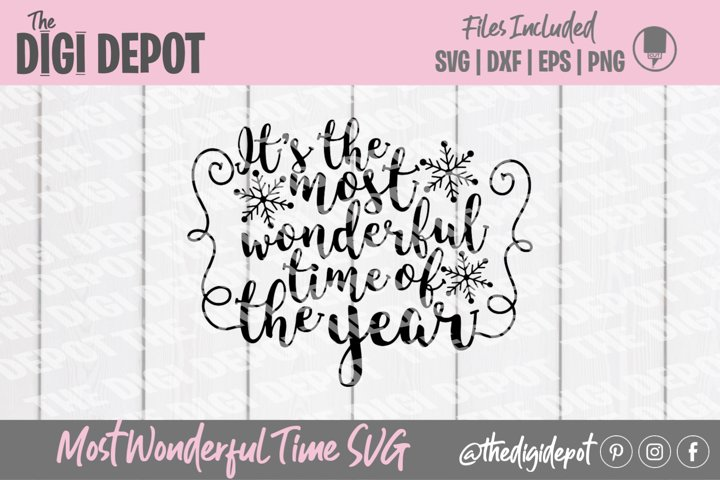 Most Wonderful Time of the Year SVG, Christmas SVG