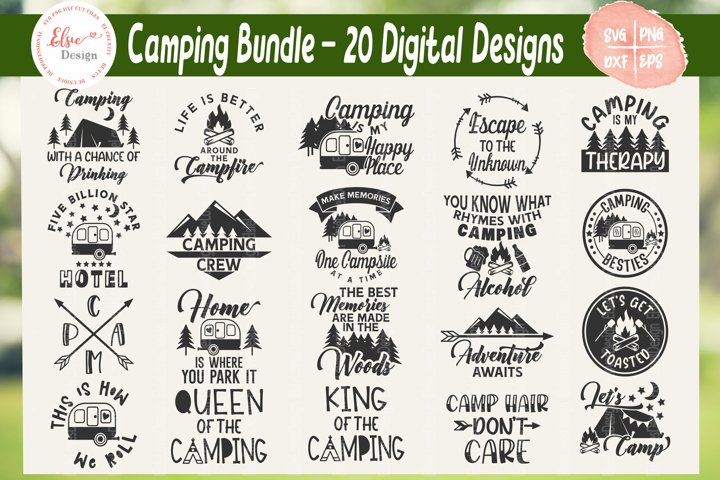 Camping Bundle SVG Cut Files