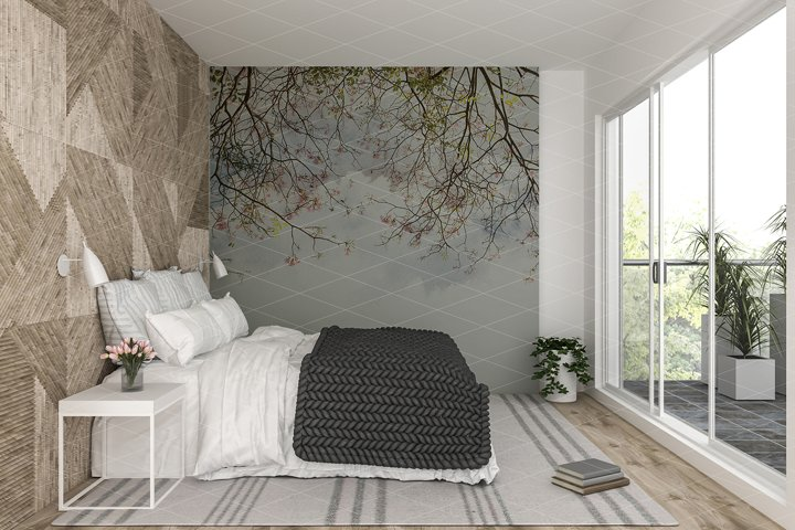 Wall mockup - Interior mockup - Wallpaper mockup