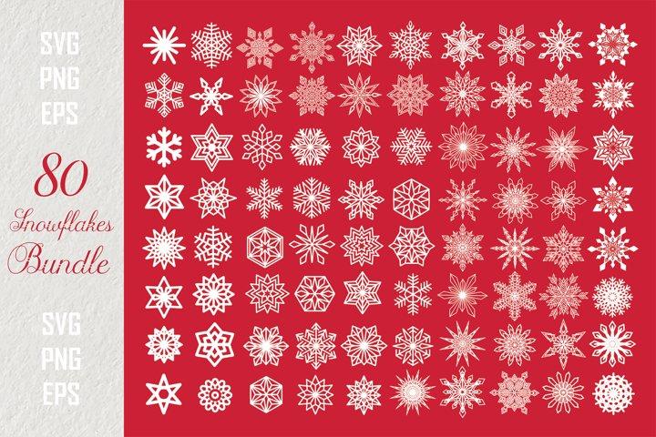 Snowflakes PNG SVG Bundle