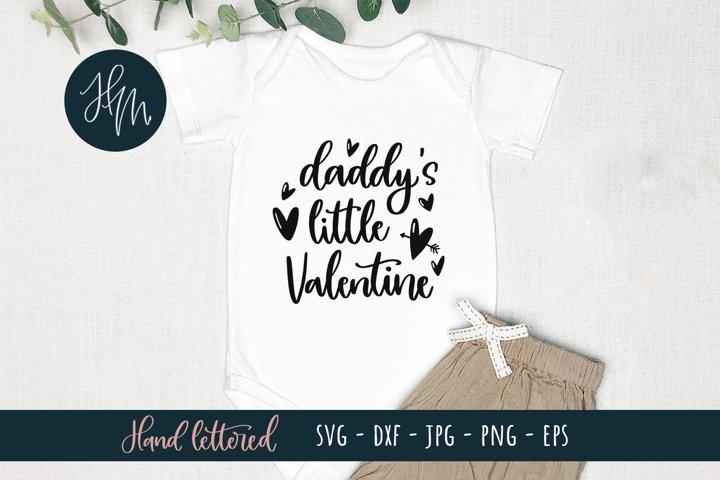 Daddys little Valentine SVG cut file