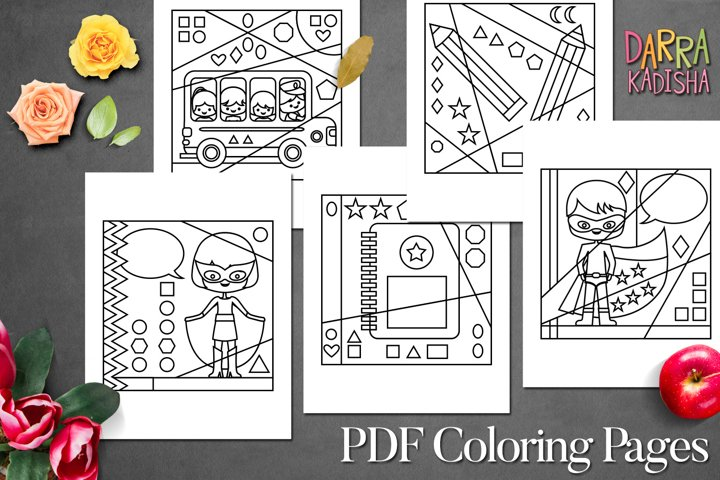 Back to school superhero coloring pages