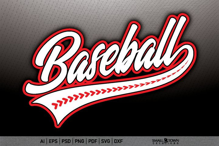Baseball, Baseball Threads, Stitches, PRINT, CUT & DESIGN