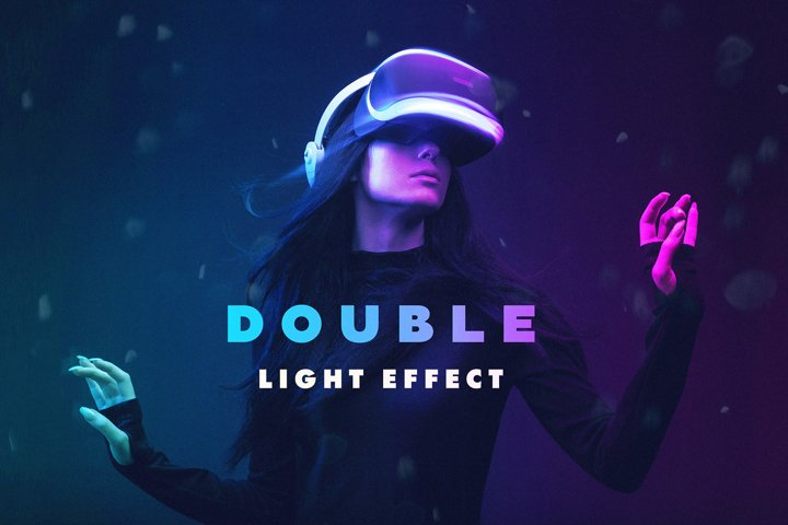 Double Light Photoshop Effect