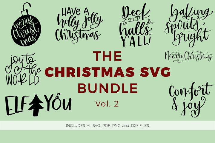 The Christmas SVG Bundle, Volume 2