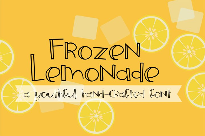 ZP Frozen Lemonade - Free Font of The Week Font