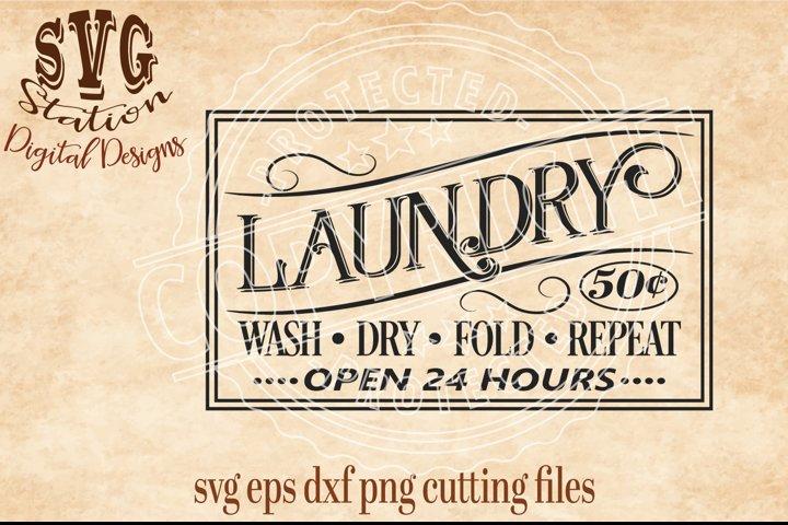 Vintage Laundry Cut File