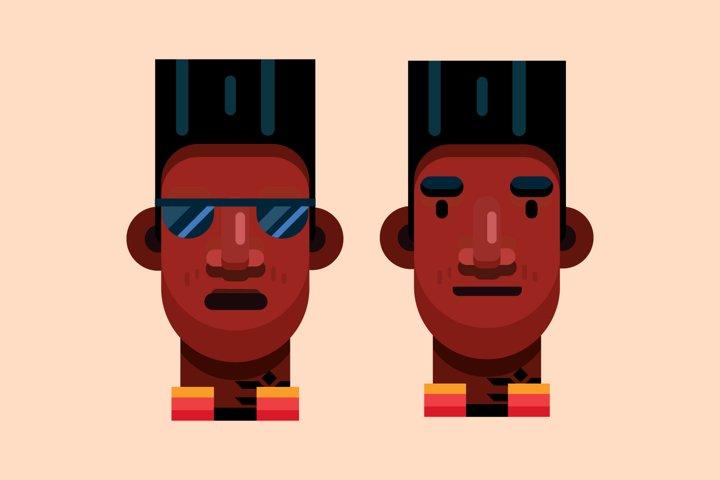 cool black guy flat illustration