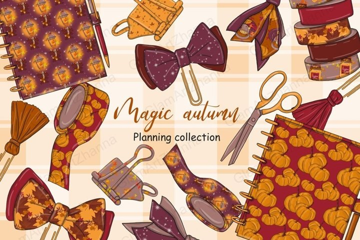 Magic Autumn PLANNING COLLECTION Fall Vibes Girl Party - PNG