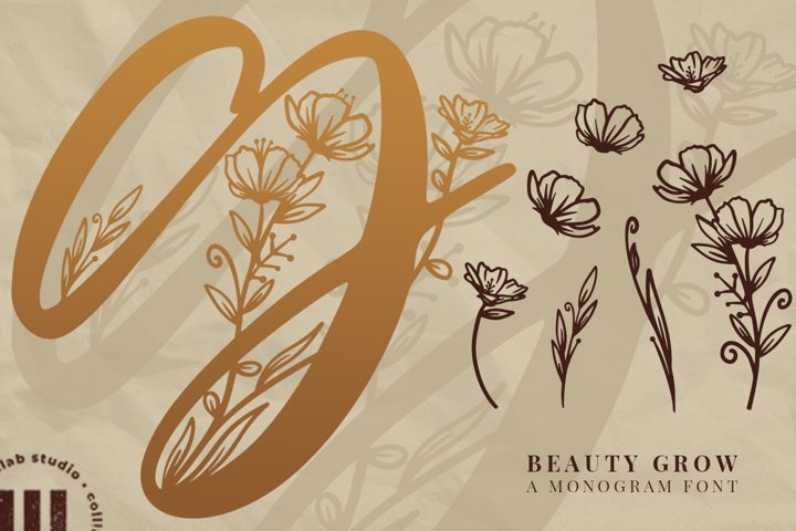 Beauty Grow Monogram Font