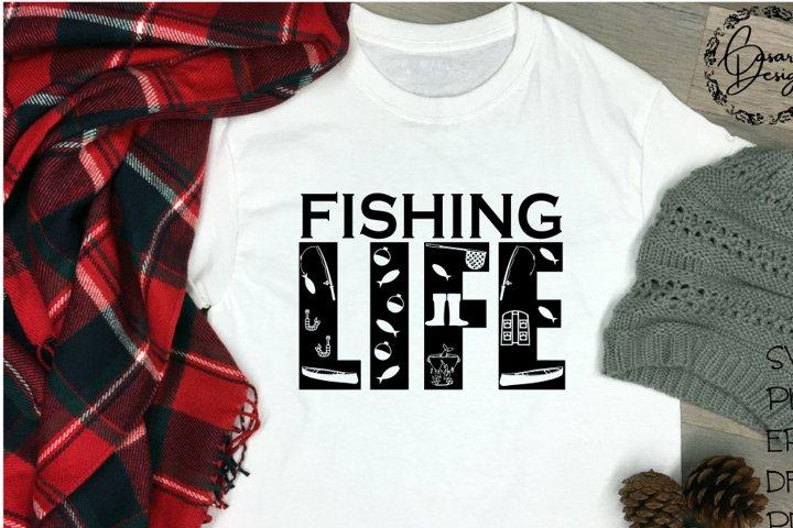 Fishing Life Design, SVG, PNG, ETC