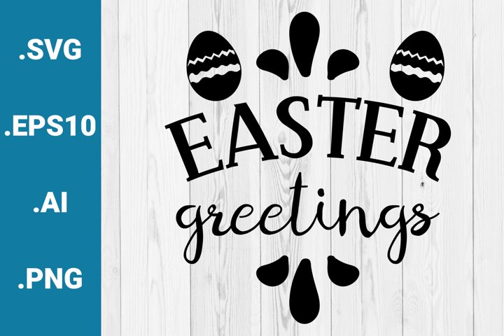 Easter Greetings SVG quote