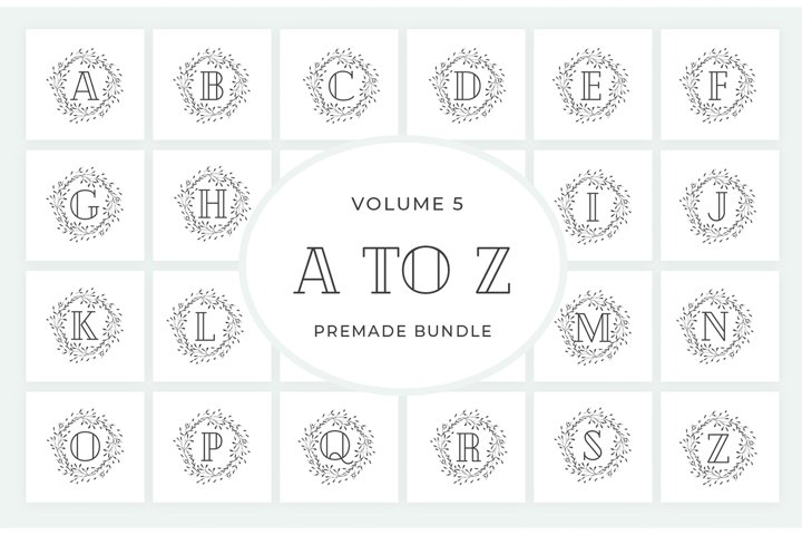 Vol.5 Alphabets Logo Templates