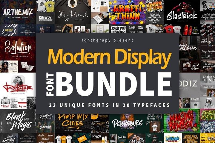 Modern Display Font Bundle