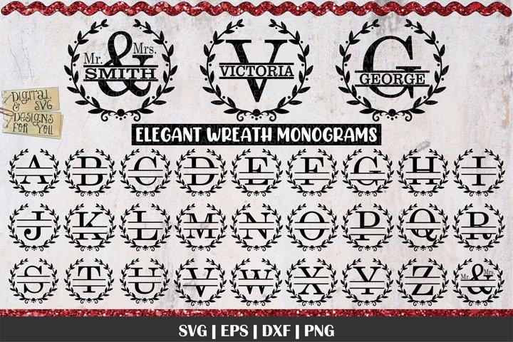 Split Letters A-Z Svg | Monograms | A-Z Monogram Letters Svg