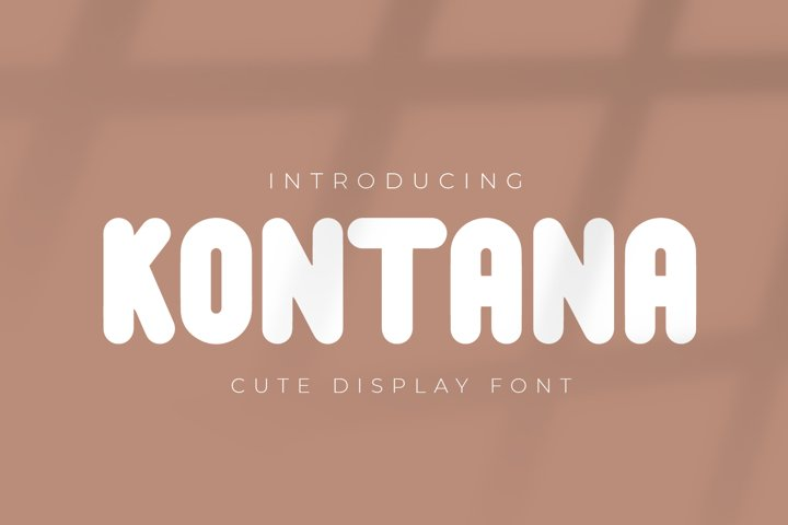 Kontana - Cute Display Font