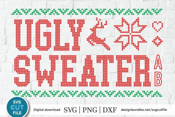 Ugly Christmas Sweater font, Tacky Christmas Jumper font OTF