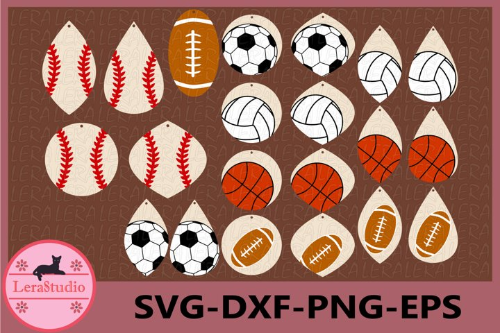 Sport Ball Template Earrings Svg Baseball Softball Svg