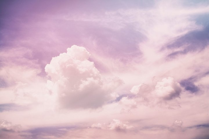 Abstract pink sky clouds