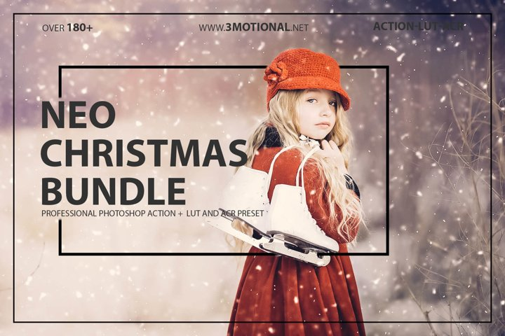 Neo Christmas Theme Bundle photoshop action,lut,acr preset