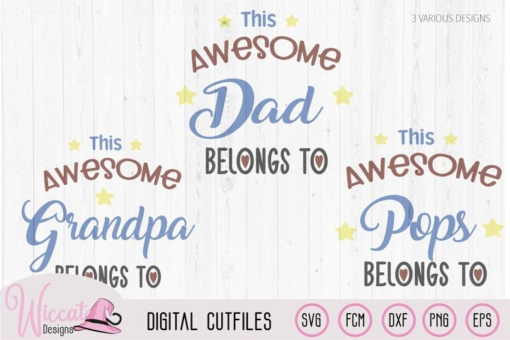 Awesome dad, awesome pops, Grandpa, Fathers day