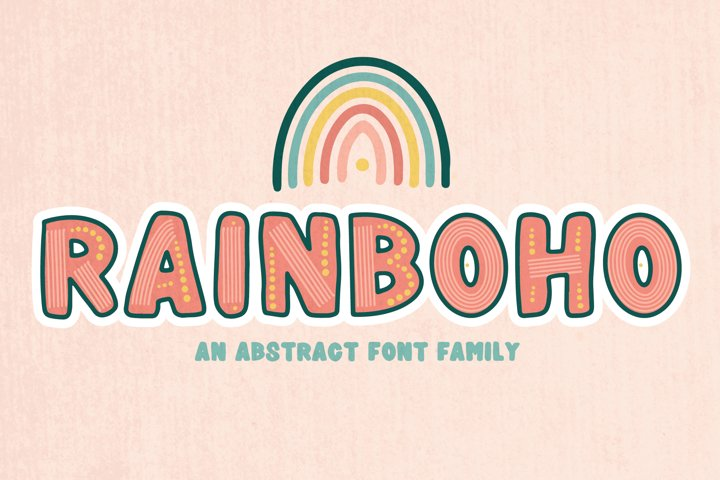 Rainboho | A Layered Abstract Font Family - Free Font Of The Week