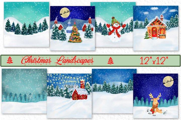 Christmas landscapes Christmas Cards Christmas printable Jpg
