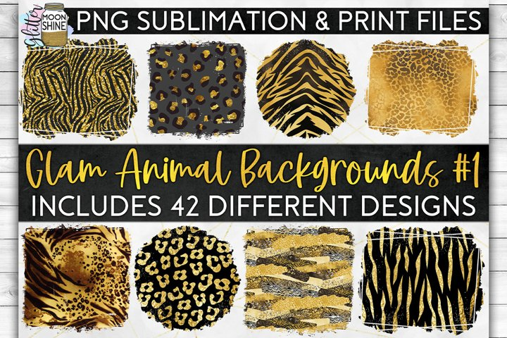 Glam Animal Print Bundle of 42 Sublimation Background PNG example