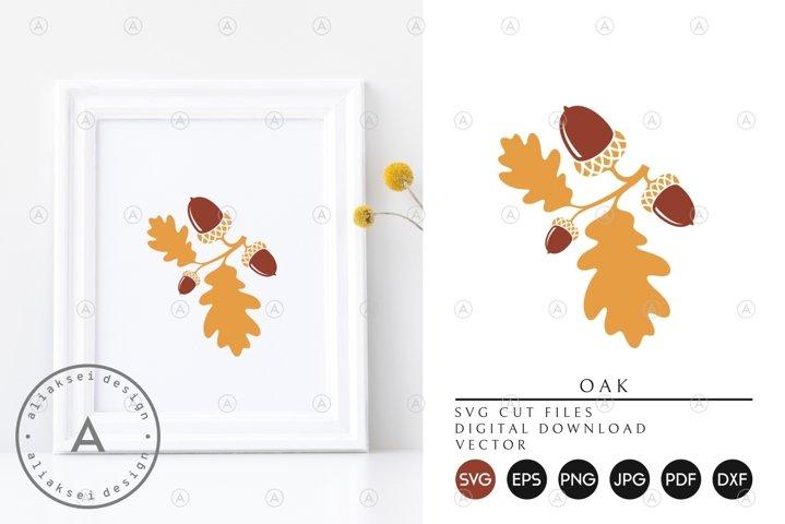 Oak | Acorns and Leaves SVG