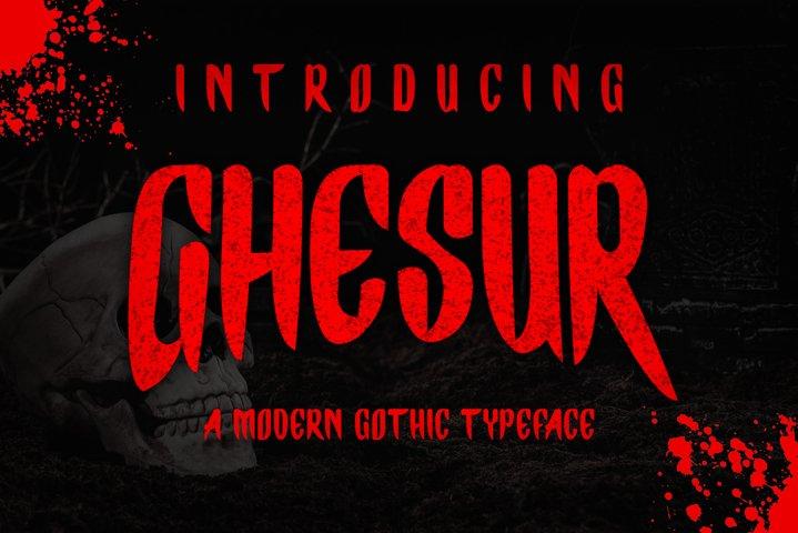 Ghesur - Modern Gothic Horror Serif Sports Typeface