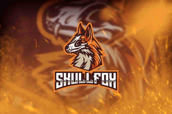 Skull Fox Esport Logo Template