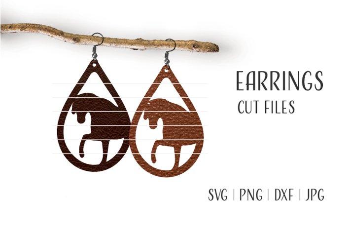 Horse Earrings Svg, Earrings Svg, Teardrop Earrings Svg