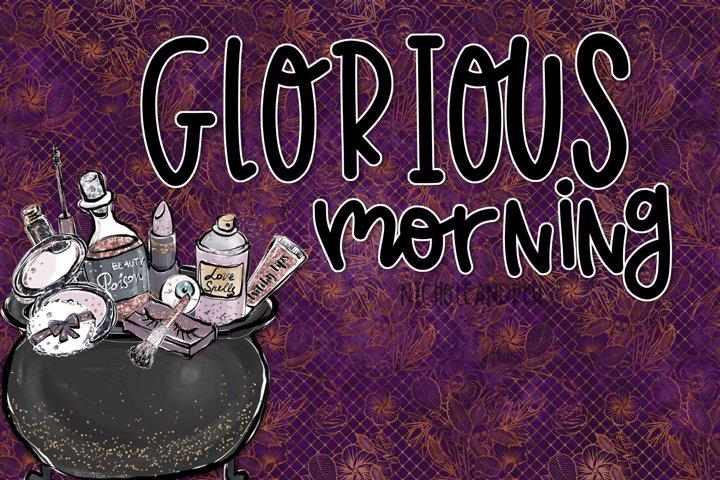 Glorious Morning - A Handwritten Print Font