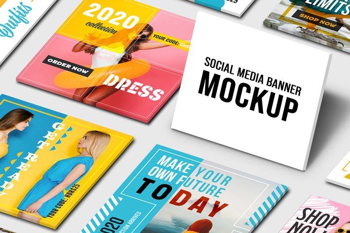 Social Media Banners Mockup Template