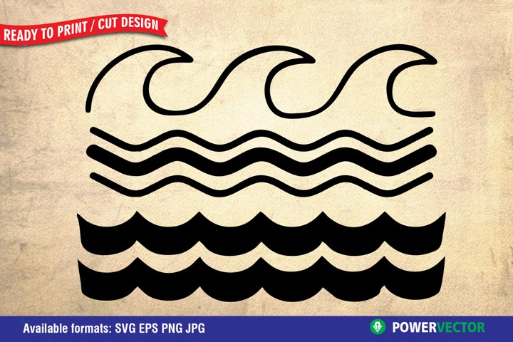 Waves SVG | Water Vector Clipart for Crafters