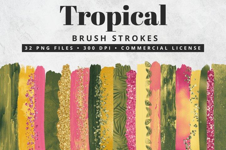 Tropical Brush Strokes 32 Pc.