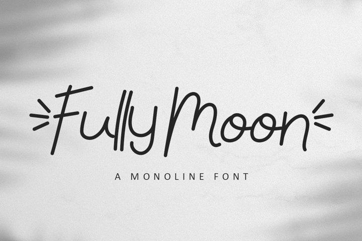 Fully Moon - A Monoline Font