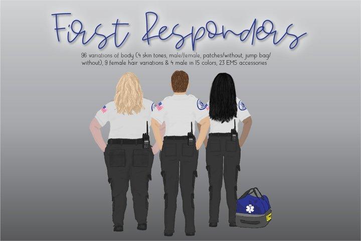 First Responder Clipart Set