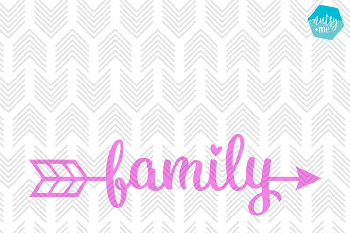 Family Arrow - SVG, AI, EPS, PDF, DXF & PNG FILES